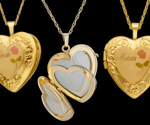 delicate, golden, and heart image