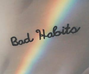rainbow, bad, and habits image