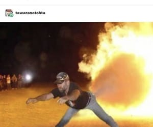 fire, photoshop, and funny image