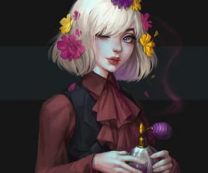 blonde hair, character, and conceptart image