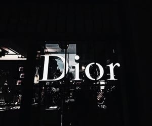 dior, dark, and black image
