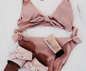 summer, bikini, and rose gold image