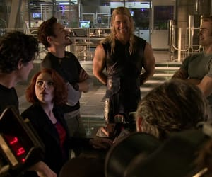cast, chris hemsworth, and age of ultron image