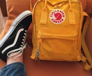vans, yellow, and kanken image