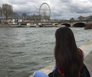 brunette, france, and girl image