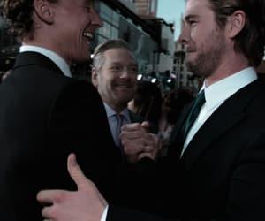 chris hemsworth, hiddlesworth, and tom hiddleston image