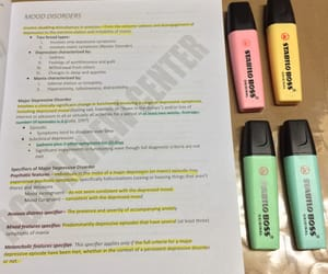 college, highlighter, and pastel image