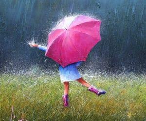 dancing, lluvia, and rain image