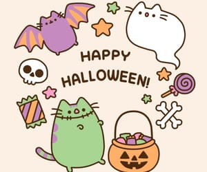 Halloween, pusheen, and cat image