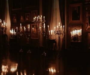 aesthetic, candle, and dark image