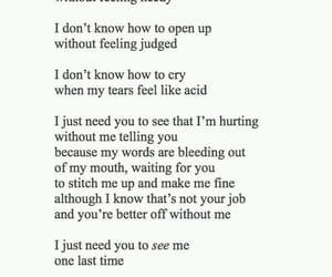girls, sad, and poetry image