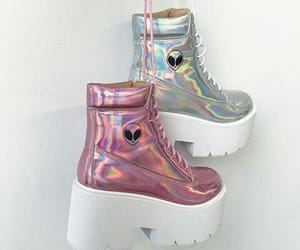 alien, grunge, and shoes image