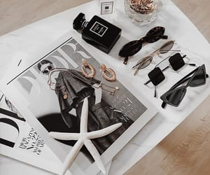 sunglasses, magazine, and chanel image