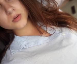 beautiful, beautiful girl, and lips image