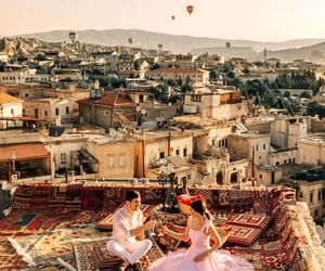 cappadocia, hot air balloons, and fashion blogger image