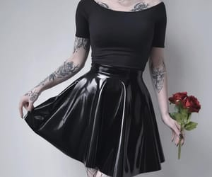 aesthetic, goth, and skirt image