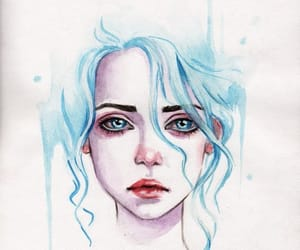 adorable, beauty, and blue hair image