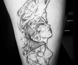 inked, tattoo, and woman tattoo image