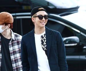 airport, kim namjoon, and smile image