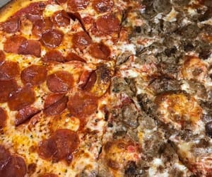 food, junk food, and pizza image