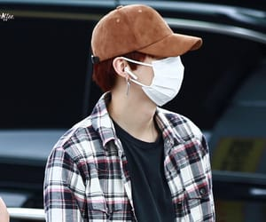 airport, yoongi, and red hair image