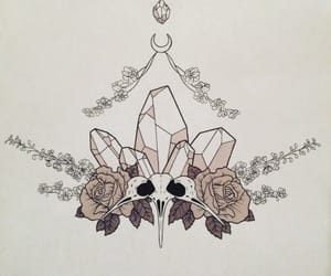 crystals, floral, and tattoodesign image