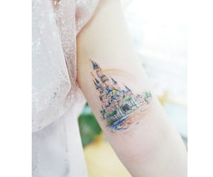 body art, castle, and disney image