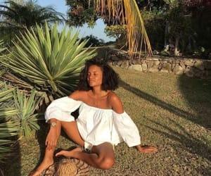 girl, tropical, and hair image