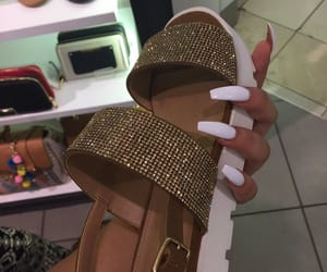 sandals, shoes, and nails image