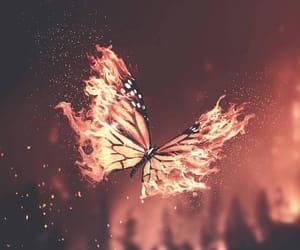 art, digital art, and fire image