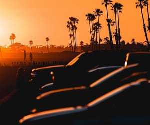 car, summer, and sunset image