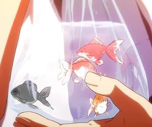 anime, gif, and fish image