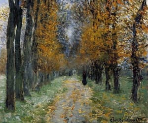 art, claude monet, and forest image