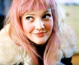 drew barrymore, hair, and pink image