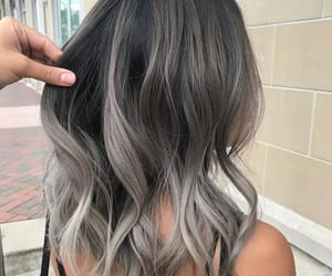 grey, hair, and style image