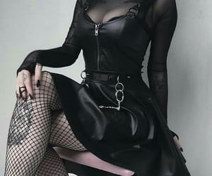 beauty, clothes, and goth image