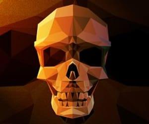 geometric, skull, and skulls image