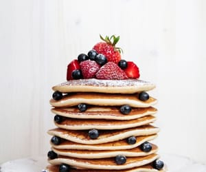 berries, pancakes, and delicious image