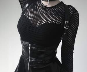 aesthetic, fishnet, and skirt image
