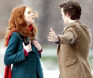 doctor who, amy pond, and 11th doctor image