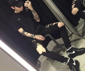 boy, ulzzang, and black image