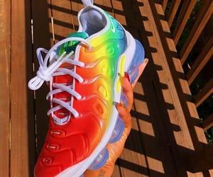 nike, rainbow, and shoes image