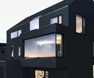 black, black house, and house image