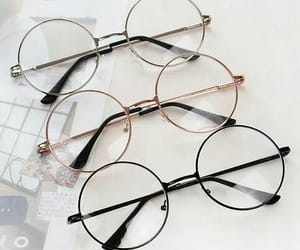 accessory, gold, and lunettes image