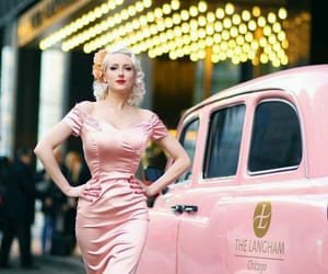 Pin Up, pink, and vintage image