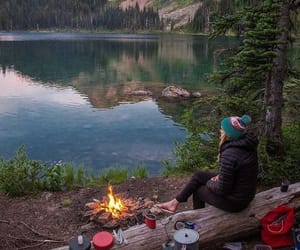 mountains, adventure, and camping image