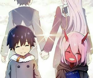 anime, darling in the franxx, and hiro image