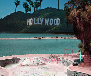 hollywood, skate, and beach image