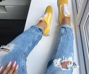 yellow, fashion, and vans image
