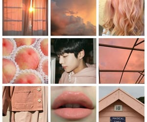 aesthetic, peach, and taeyang image